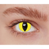 Paire de Lentilles de Contact Chat Jaune