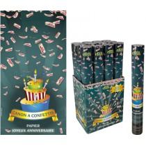 Canon à Confettis Anniversaire 40 cm