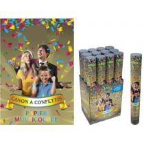 10 Canons à Confettis Multicolores 40 cm