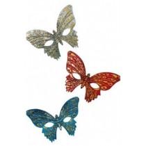 Loup Papillon Paillettes Motifs Or