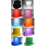 Chapeau Haut de Forme Rocambole Luxe - 10 Coloris au Choix