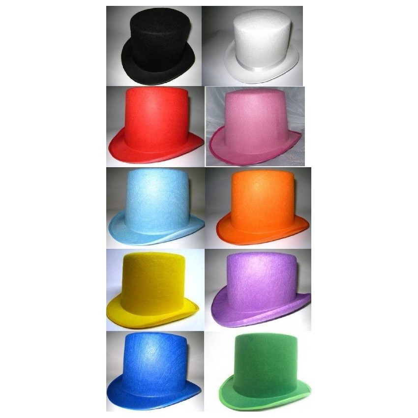 Chapeau haut de forme 10 coloris au choix - Haut de forme pas cher ...
