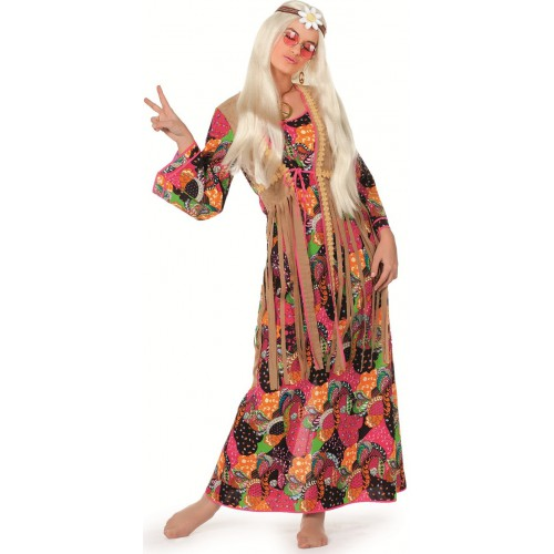 deguisement hippie femme luxe jolie peace and love robe