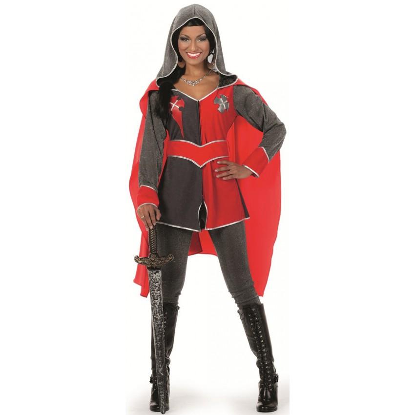 deguismement chevalier pour femme joli rouge et noir
