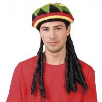 Perruque + Bonnet Rasta / Bob Marley / Jamaïcain