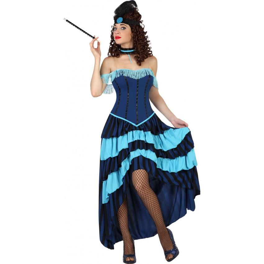 Cabaret Déguisement Girl Saloon Can OZXTPiku