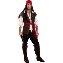PROMO PACK PIRATE : COSTUME + CHAPEAU + MOUSTACHES