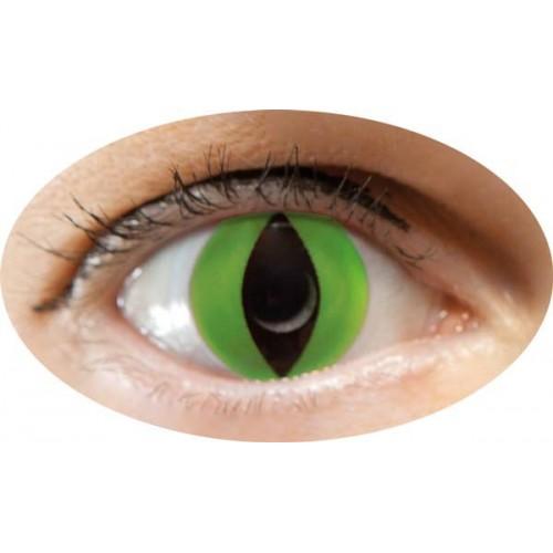 Paire de Lentilles de Contact Chat Vert