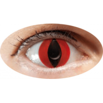 Paire de Lentilles de Contact Chat Rouge
