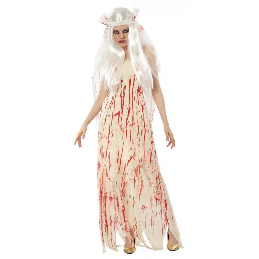 D guisement mari e sanglante - Deguisement halloween mariee ...