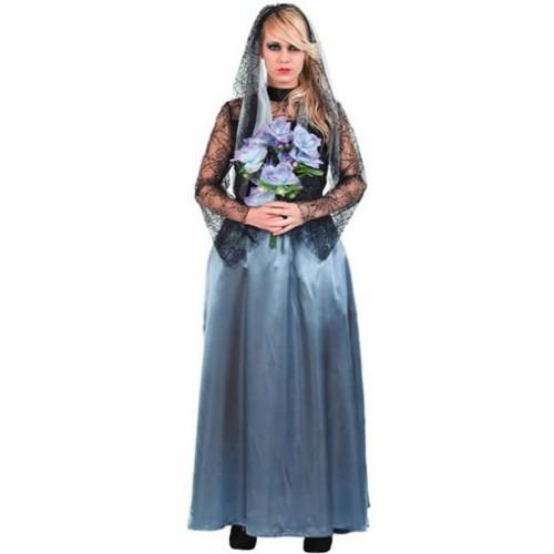 D guisement mari e noire gothique - Deguisement halloween mariee ...