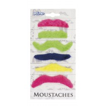 Lot 6 Moustaches Fluo