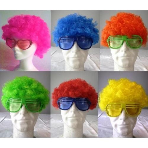 Perruque Afro Fluo PV - 10 Coloris au choix