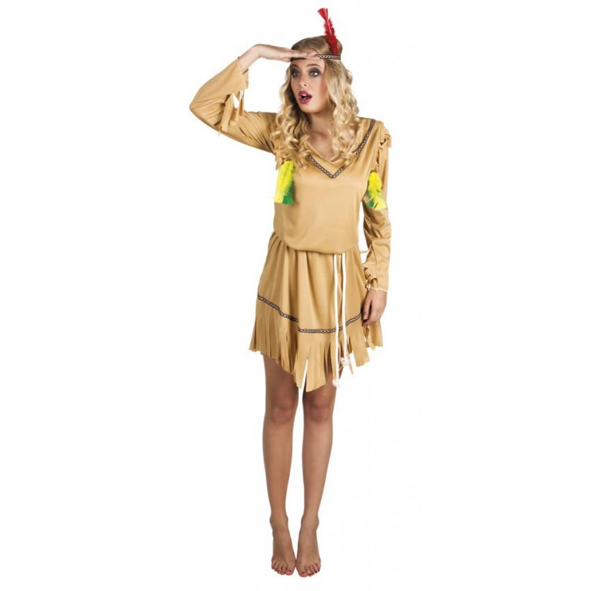 D guisement indienne pocahontas sioux apache - Deguisement pocahontas femme ...