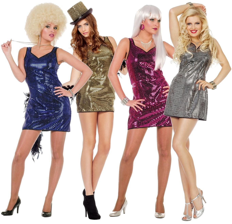 Deguisement Robe Paillettes Luxe 3 Coloris Au Choix