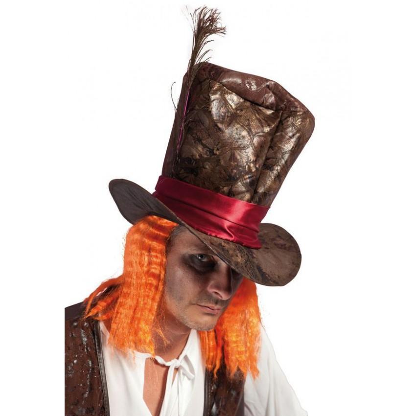 Chapeau chapelier fou avec cheveux - Maquillage chapelier fou ...