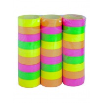 Lot de 3 Rouleaux de Serpentins Fluo
