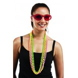 Collier Perles Fluo