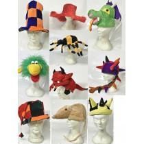 PROMO Lot de 10 Chapeaux Tissus Adultes