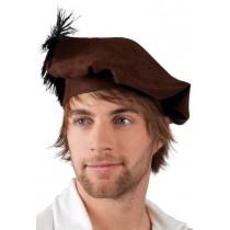 Chapeau Médiéval avec Plume