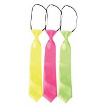 Cravate Fluo  - 3 Coloris au Choix
