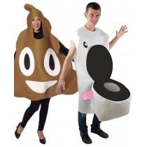 Déguisement Toilettes + Déguisement Caca