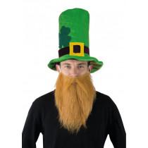 Chapeau St Patrick avec barbe / Leprechaun