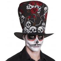 Chapeau Haut de Forme Tête de Mort