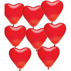 Lot de 8 Ballons Coeurs