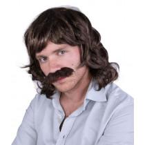 Perruque John avec Moustaches