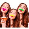 Moustaches Fluo - 3 Coloris Possibles