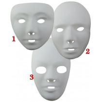 Masque Plastique Blanc - 3 tailles au choix