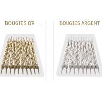 Bougies Anniversaire - 2 Coloris au Choix