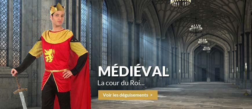 déguisements médiévaux, chevalier, reine